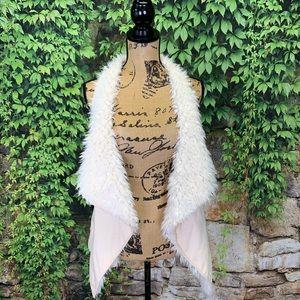 ZINGA Faux Sheepskin Vest, S